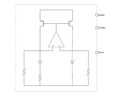 BandGap Reference 1V BGR 6.5mA dissipation